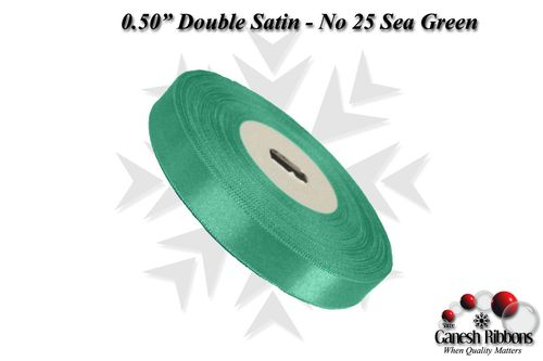 Double Face Satin - Sea Green