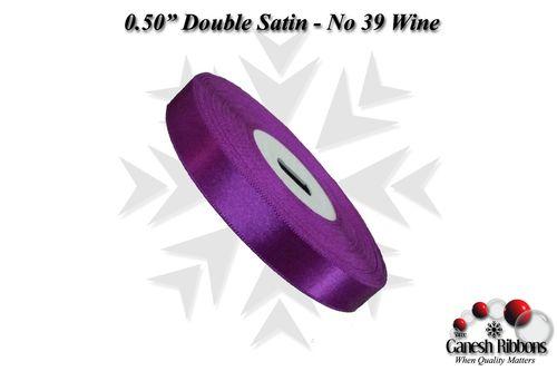 Double Face Satin - Wine