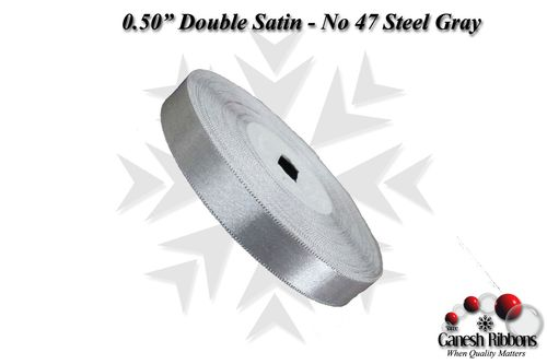 Double Face Satin - Steel Gray
