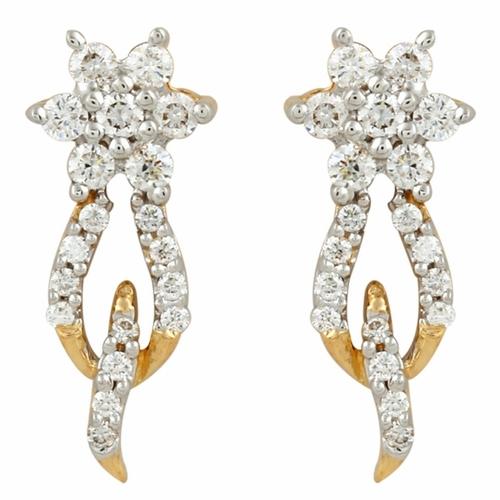 Adorable Hoop Style Diamond Earring
