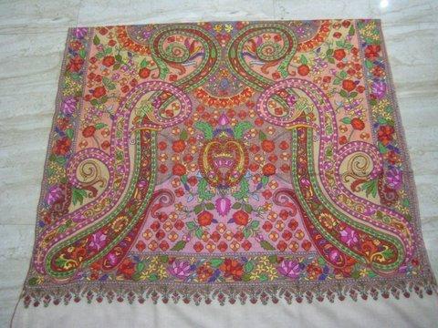 handwooven handmade jamavaar 100% pashmina shawls