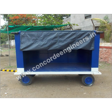 Close Luggage Trolley with Curtain