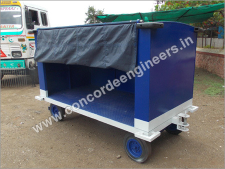 Covered Baggage Trolley