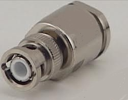 BNC male clamp connector for LMR 400 cable