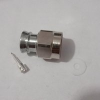 DIN female connector for quater inch superflexible cable