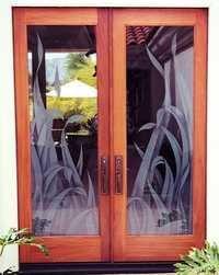Tropical Designs Glass Doors