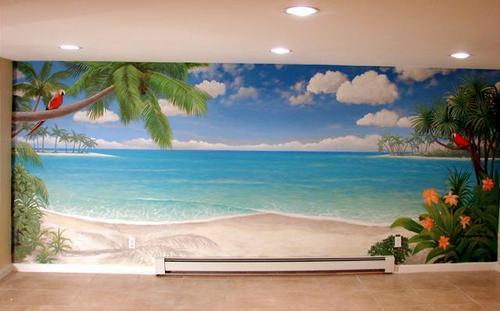 Beach Themed Wall Designs