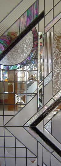 Glass Partition Colourful Designs