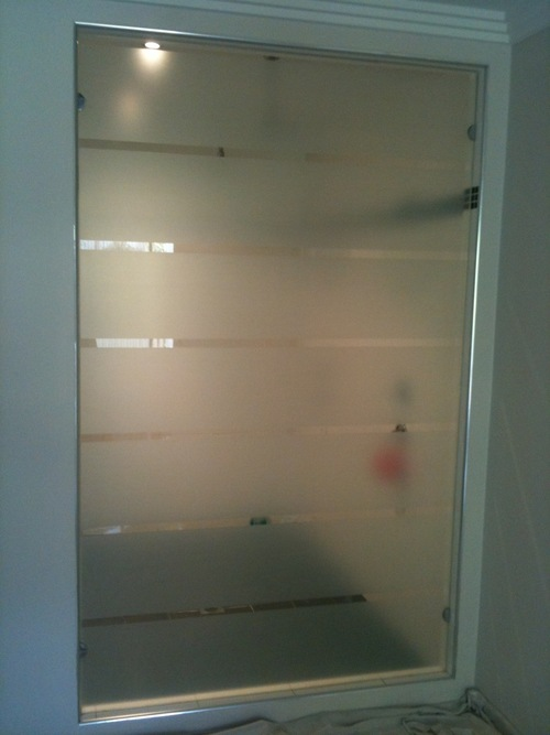 Designer Frosted Glass Partion
