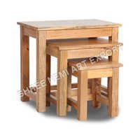 Cube  Mango Furniture Stool Set Of three