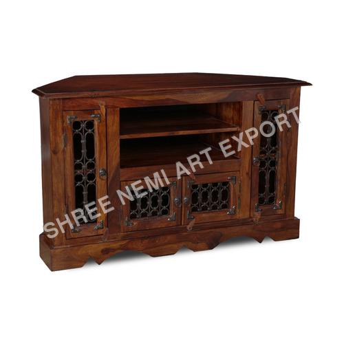 Jali Range Furniture-T.V stand with jali