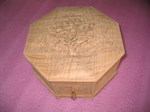 Handmade Wood Carved Box