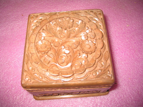 Wood Carved Box