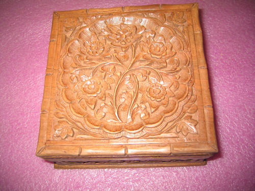 Wood Carving Handmade Box