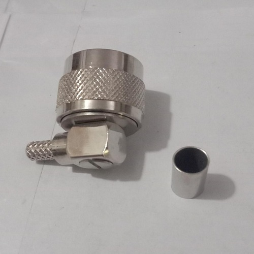 n male right angle crimp connector for LMR 240