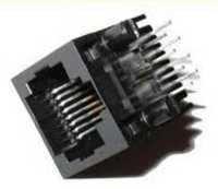RJ 45 socket straight PCB mount connector