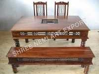 Jali Range Furniture-Table & chair with Bench