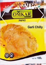 Omkar Garlic Chilly Papad
