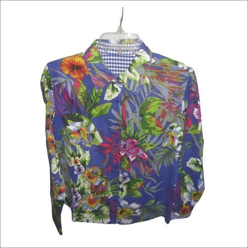 Flower printed ladies shirt