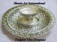Silver Designer Diya