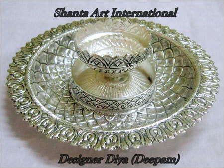 Ethnic Silver Diya