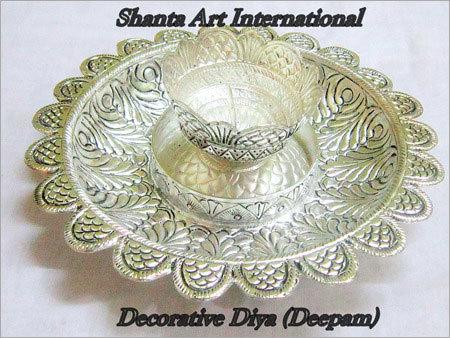 Auspicious Silver Diya