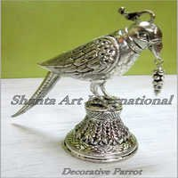 Silver Decorative Parrot