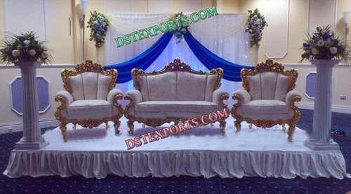 Wedding Stage Gold Furniture Set