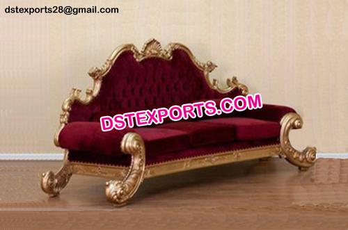 Maharaja Wedding Golden Sofa