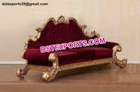 Maharaja Wedding Golden Sofa