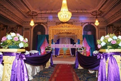 Indian Wedding Golden Jodha Akbar Mandap