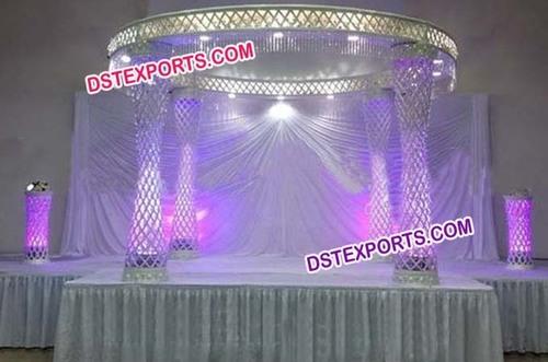 New Wedding Fiber Crystal Mandap