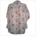 Ladies flower printed shirt