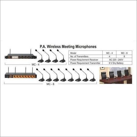 PA Wireless Meeting Microphones