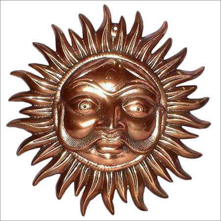 Kall Bhairav Face in Metal Handicraft