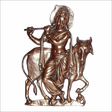 Metal Sculpture Lord Krishna