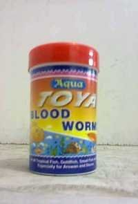 Aqua Toya blood worm aquatic fish feed