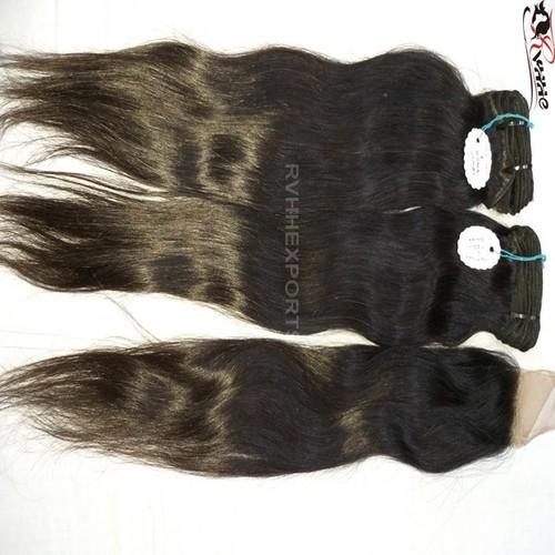 Wefted Silky Straight Hair