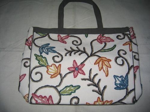 cotton based crewal emb bag
