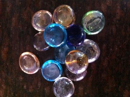 Multi Color Glass Pebble Stone