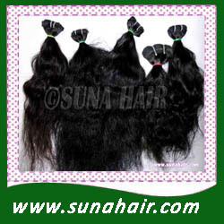 remy virgin hair weft