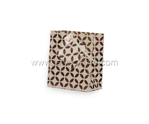 Silver Paper Printed Bag