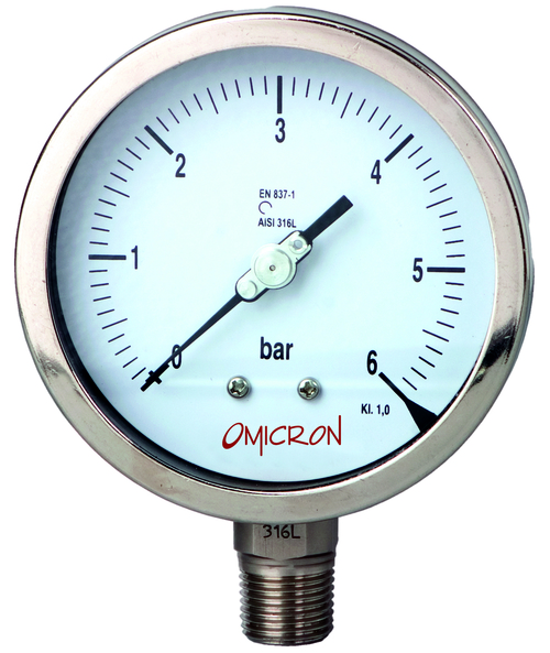 PGSS : All Stainless Steel Pressure Gauge (Bourdon Type)