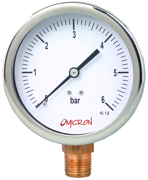 PGSB : Stainless Steel Pressure Gauge with Brass Internals