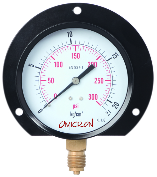 PGMB : Mild Steel Pressure Gauge with Brass Internals Pressure Gauge