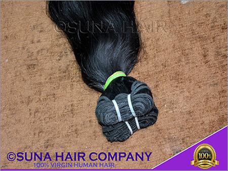 Straight Machine Weft Remy Human Hair