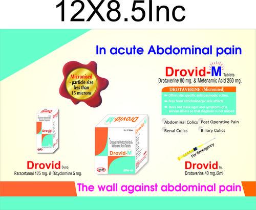 Drotaverine Hcl. & Mefenamic Acid Tablets