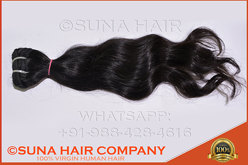 Natural Curly Machine Made Weft Human Hair