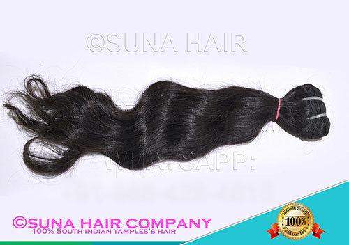 Long length natural virgin curly human hair
