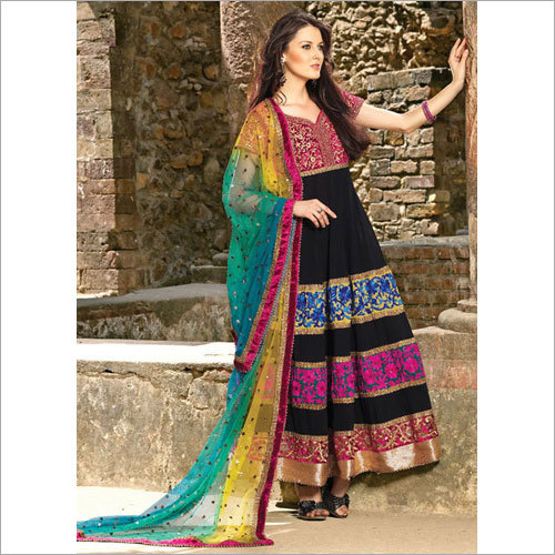 Anarkali Silk Suit